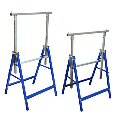 2er Set Gerüstböcke Unterstellbock Klappbock Höhenverstellbar von 81-130 cm Belastbar bis 150 kg aus Stahl
