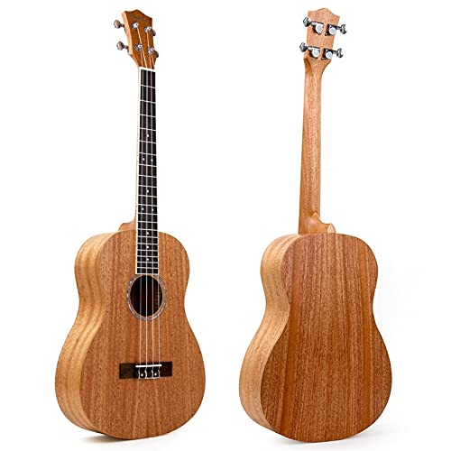 KEPOHK Ukelele barítono 30 pulgadas caoba 4 cuerdas guitarra Hawaii 30 pulgadas MI0639