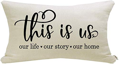 Meekio Farmhouse Pillow Covers with This is Us Quote 12