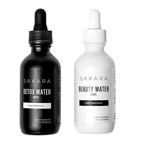 Sakara Beauty + Detox Water Drops w/Minerals & Chlorophyll 2-2oz