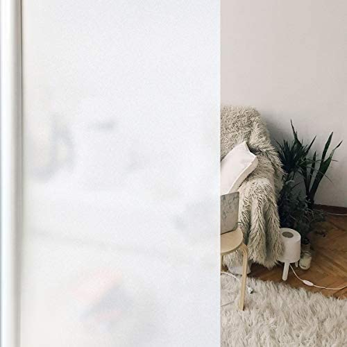 EVERYTHRY Window Privacy Film Frosted Window Sticker Static Cling Vinyl Glass Film Non Adhesive product image