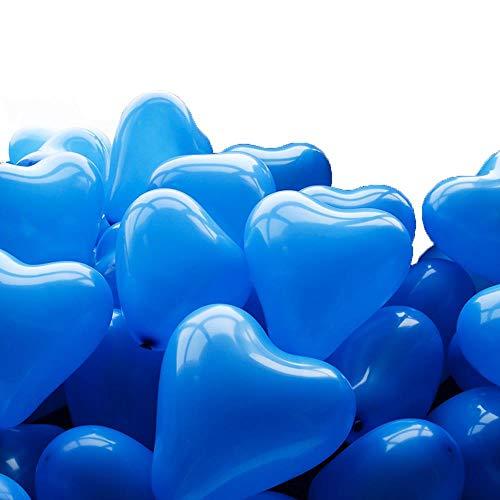Fiesta de cumpleaños decoración de la habitación de la Boda Boda Boda Engrosamiento en Forma de corazón Globo Azul Oscuro 100