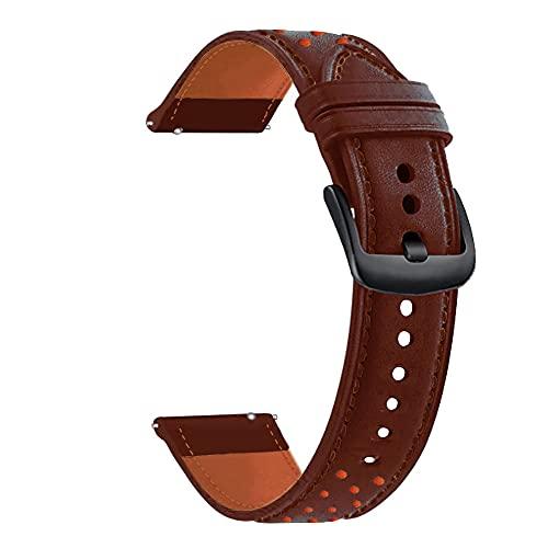 AISPORTS Compatible con Huawei Watch GT2 46mm Correa de Cuero para Mujeres y Hombres,Correa de Reloj de Liberación Rápida de 22mm Correa de Repuesto de Pulsera Suave para Huawei Watch GT2 Pro/GT 2e/GT