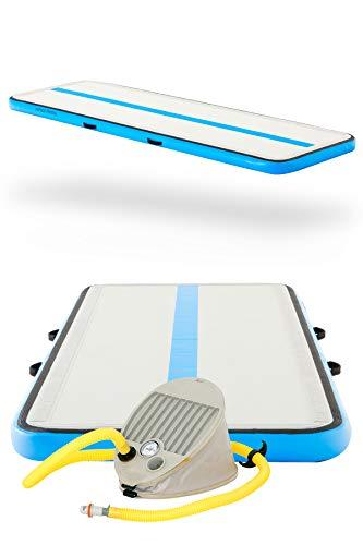 AirTrack Factory AirFloor 3x1 Aufblasbare Turnmatte Tumbling Matte Trainingsmatte Sportmatte Gymnatikmatte mit Fußpumpe