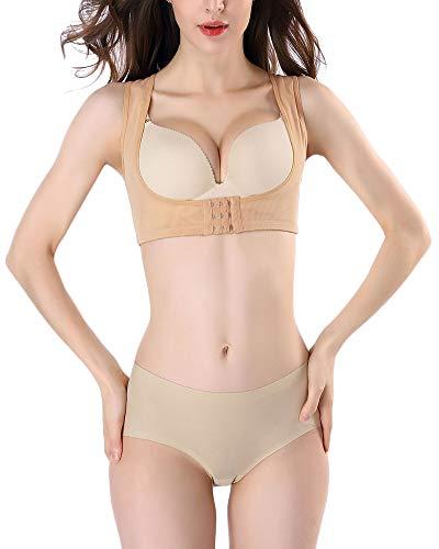 DianShaoA Corrección De Postura Ajustable Corrector Postural Transpirable Volver A Cinturón Postura Lumbar Apoyo Para Mujer, Mejora Apoyo Postura Albaricoque M