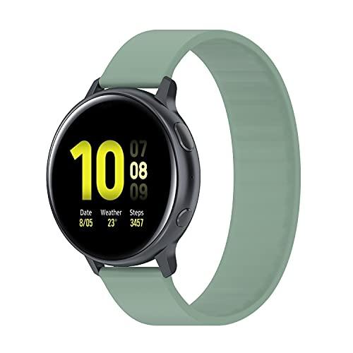 BoLuo Correa para Garmin Venu 2S,Correas Reloj,Bandas Correa Repuesto Loop,Silicona Reloj Recambio Brazalete Correa para Garmin Vivoactive 4s/Vivoactive 3S/Active S/Huawei Bracelet B5 (verde, 129mm)