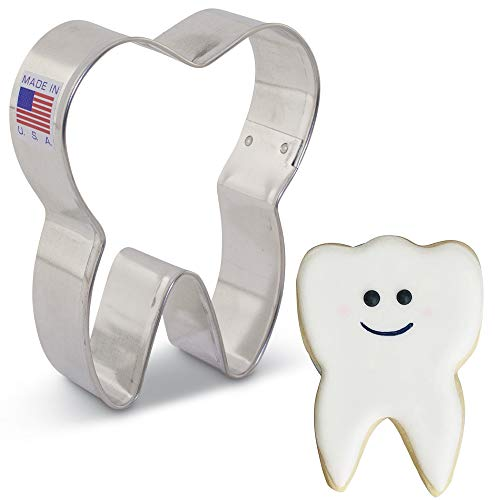 Tooth Cookie Cutter - 3.5 Inch - Ann Clark - US Tin Plated Steel