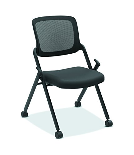 HON Assemble Mesh Back Nesting Chair - Armless Stacking Chairs, Pack of 2 (HVL304)