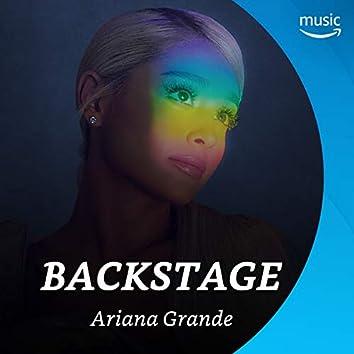 Backstage mit Ariana Grande