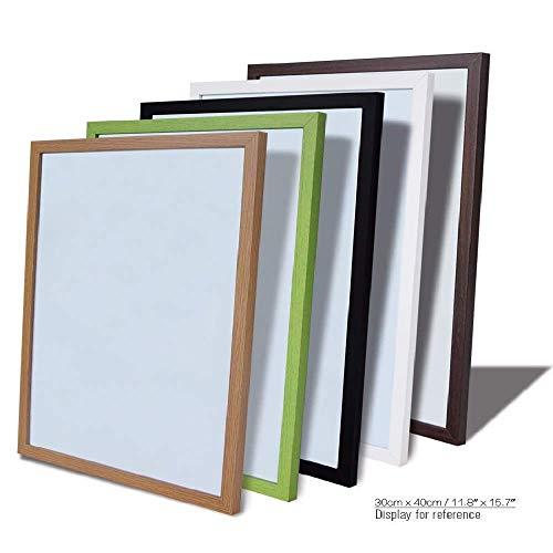 Tableau blanc 30 x 40 cm, 11 couleurs, cadre en MDF magnétique, tableau d'affichage, message effaçable à sec, accessoires inclus WB23