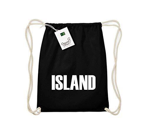 Camiseta stown Organic gymsac Island País Países Fútbol, color Negro, tamaño talla única