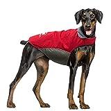IREENUO Abrigo para Perro Impermeable, Chubasqueros Perro Mediano Grande cálida Chaqueta Perro de Invierno con Tiras Reflectantes Seguras & Busto Ajustable(Rojo, 5XL)