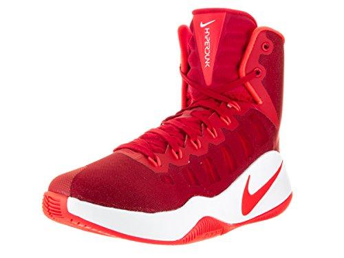Nike Hyperdunk 2016, Zapatillas de Baloncesto para Hombre, Rojo (University Red/Bright Crimson-White), 42.5 EU