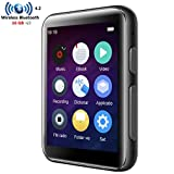 HONGYU 16GB MP3 Player Bluetooth with 2.4 inch Full Touch Screen HiFi Lossless Metal Music Player Bluetooth Built-in Speaker Support FM Radio/Voice Recorder
