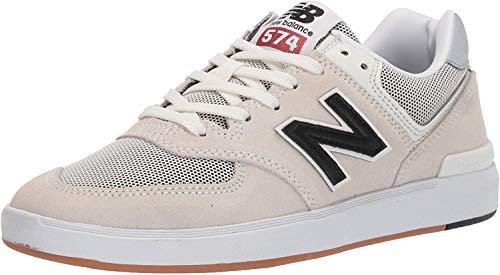 New Balance Am574 - Hombre, Blanco (Blanco/Rojo), 45 EU