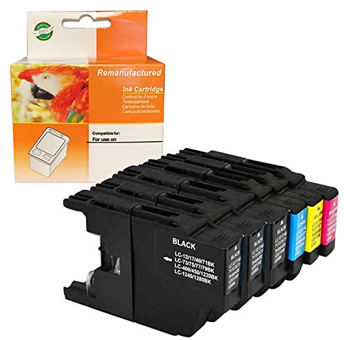 ZET Remanufactured Ink Cartridge Replacement for Brother LC75 XL LC79 XL LC71 LC73 Use in MFC-J280W, J425W, J435W, J625DW, J6510DW, J6710DW, J6910DW Printers (3 Black, 1 Cyan, 1 Magenta, 1 Yellow)