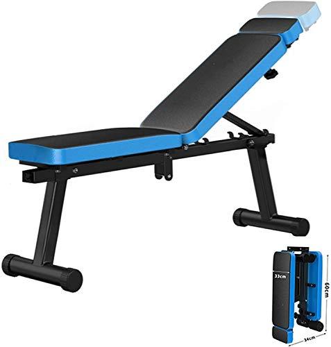 KMILE Banco de pesas de entrenamiento de fuerza ajustable, banco de pesas ajustable, banco de inclinación/inclinación/banco plano, banco de peso, banco de entrenamiento, capacidad de 400 libras
