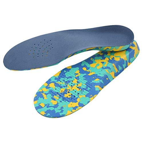 HEALLILY plantillas de pie plano soporte de arco amortiguación almohadillas de zapato terciopelo ortesis fascitis plantar insertos de zapatos para niños niños (29-31)