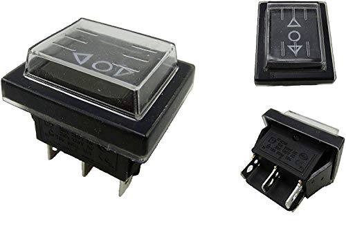 2Pc 6Pins 16A 250V Wasserdicht Industriell Elektrisch Drucktastenschalter TASTER ON/OFF/ON Wipptastenschalter für Elektrowerkzeuge 6.3 Tab