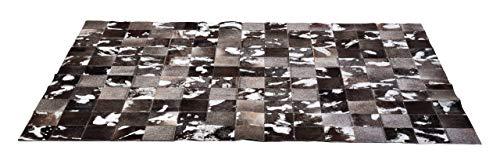Kare Design Teppich Cosmo Grey Fur, 170x240 cm, Kuhfellteppich, Patchworkteppich,Used-look,  moderner Teppich, Kolonial Teppich, (H/B/T) 1x170x240cm