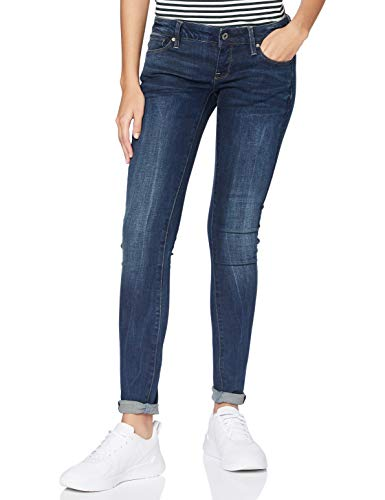 G-STAR RAW 3301 Low Waist Super Skinny Vaqueros, Dark Aged 6553-89, 23W / 28L para Mujer