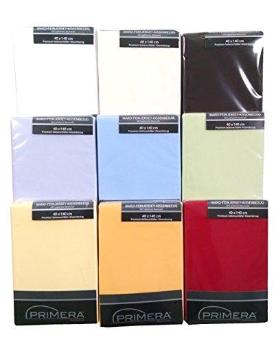 Premium Baumwoll-Jersey Seitenschläferkissen-Bezug, 40x140 cm, weiß