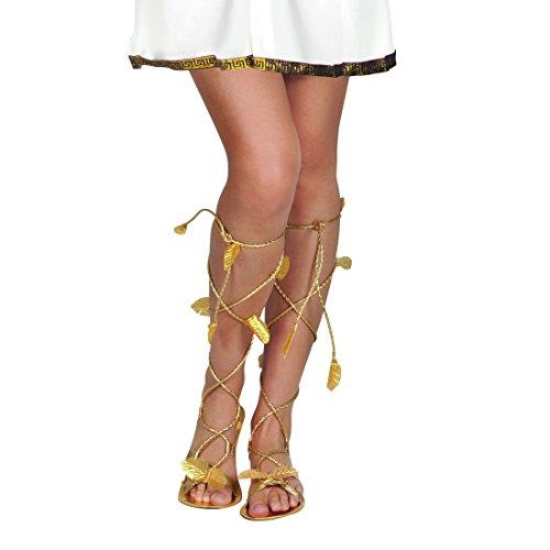 Amakando Sandali Piatti con Foglie di Alloro | Sandali Romani da Donna | Calzature Romani Carnevale | Scarpe alla Romana