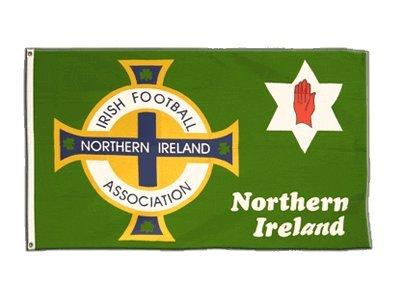 Flaggenfritze Fahne/Flagge Nordirland Football Association grün + gratis Sticker