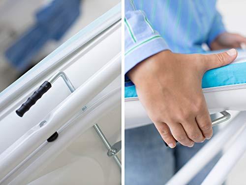 Leifheit, ironing board, Powder-coated steel/EPP/PVC, White, Medium
