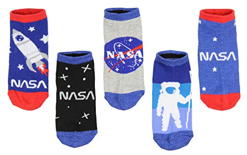 NASA Buzz Aldrin Youth Space 5 Pair Mix and Match Ankle Socks