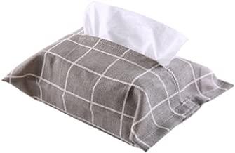 Everyfit Cloth Tissue Box Cotton Linen Holder Paper Storage Box Tissue Box Cover Napkin Container Dispener Cover Case for Home Car Bathroom Cotton Facial Linen Napkin Paper Holder(Gray Box)