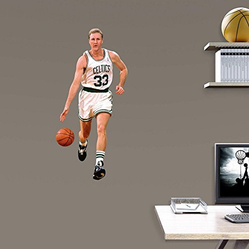 Fathead NBA Boston Celtics Larry Bird: Fathead Jr - Large Officially Licensed NBA Removable Wall Decal
