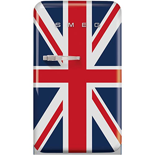 Smeg Right Hand Hinge FAB10RDUJ2 Fridge with Ice Box - Union Jack - A++ Rated