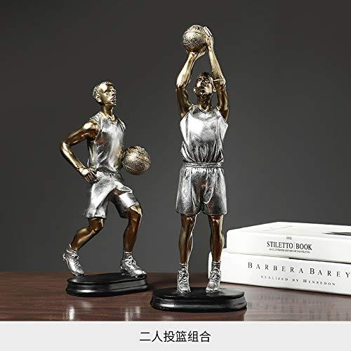 WOREX Escultura de Baloncesto, decoración de Figuras, hogar Moderno, Sala de Estar, gabinete de Vino, gabinete de TV, decoración, decoración
