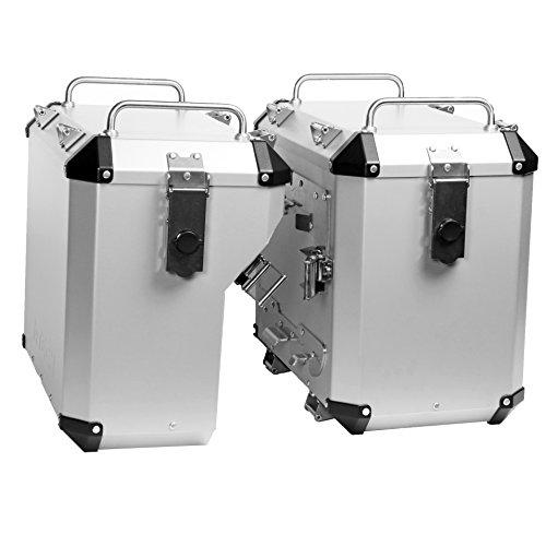 Mytech- 47 Kit de maleta de plata de 41 litros montado directamente en los marcos estándar originales para - R 1200 GS adventure LC - R 1250 GS adventure - F 850 GS Adventure