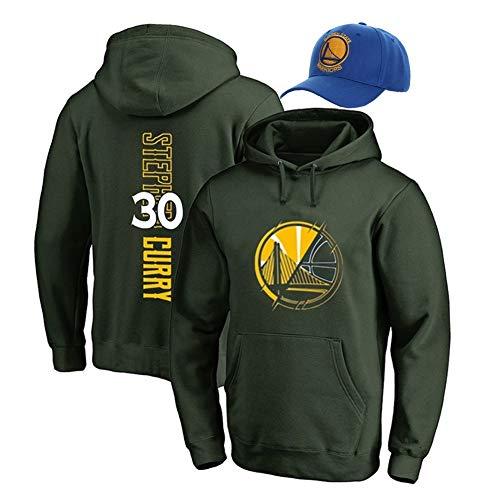 XH Männer Hoodies Stephen Curry # 30 Hoody Basketball Fans Trikot Sportswear Kleidung Sweatshirt Schwarz -L (Color : Green, Size : Small)