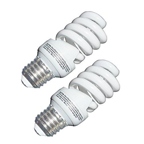 13 Watt CFL Light Bulbs (60 Watt) Soft White 2700K 1040LM Spiral Bulb Medium Base Compact Fluorescent Bulb (2 Pack)