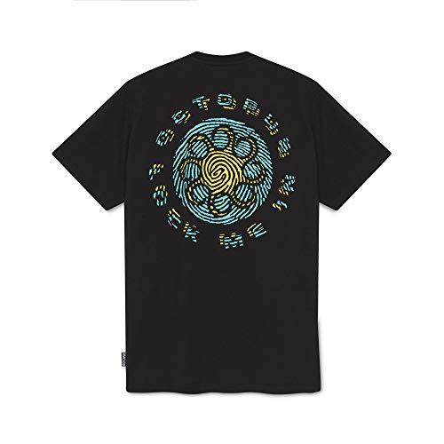 Octopus - T-Shirt Maniche Corte Stampa Fronte Retro - FINGERZ Logo - Black - (XL)