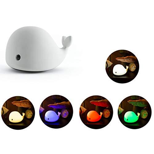 GY-Lmap Luces nocturnas para niños de Dibujos Animados creativos para niños, lámpara de cabecera ABS + PC para Lactancia Materna, Control táctil, 7 Colores, Carga USB