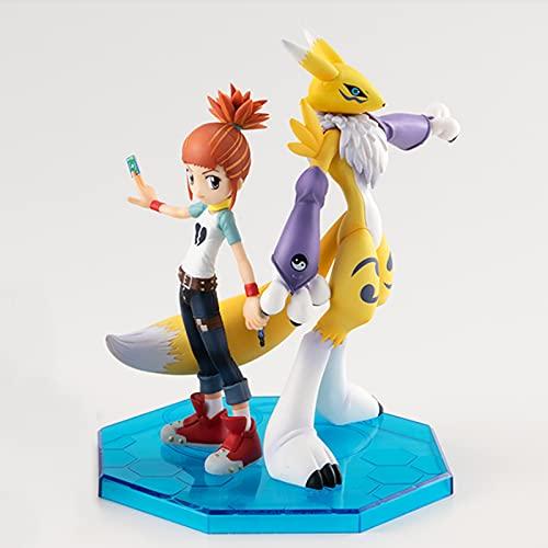 2 Teile/Satz 11-13 cm Digimon Renamon & Makino Ruki Megahouse Mh Gem PVC Collection Modell Spielzeug Anime Figur Spielzeug Für Kinder Boxed