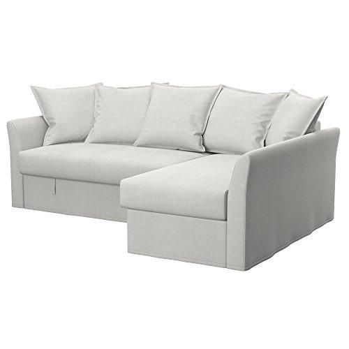 Soferia - IKEA HOLMSUND Funda para sofá Esquina, Glam Beige