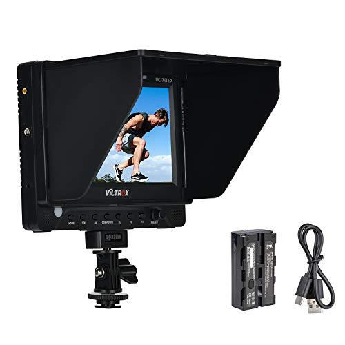 VILTROX DC-70EXKit 7 pulgadas HD IPS Pantalla Cámara Video Monitor de Campo Soporte SDI 4K HDMI Entrada para Canon Nikon Sony DSLR Cámara BMCC BMPC