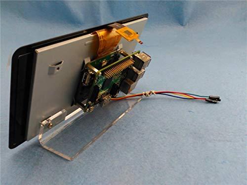 Miwaimao 60 Degrees 7 Inch Screen Bracket for Raspberry Pi 3 b 7 Inch Official Screen