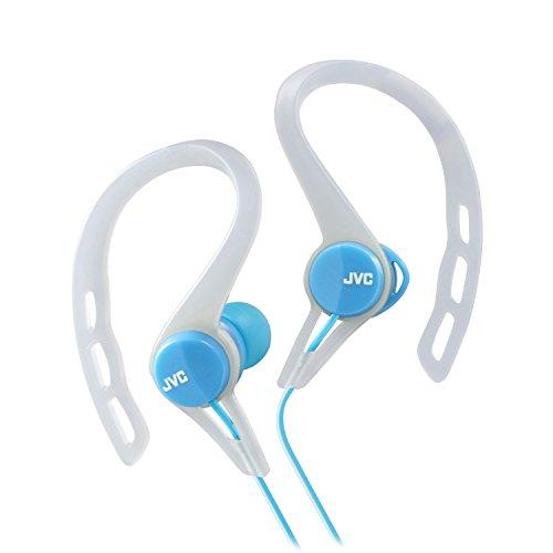 JVC HAECX20A Sports Clip Inner Ear Headphones, Blue