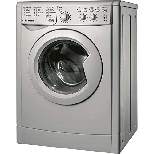 Indesit IWDC65125SUKN 6kg Wash 5kg Dry 1200rpm Freestanding Washer Dryer - Silver