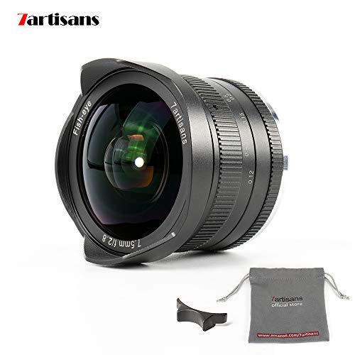 7artisans 7.5mm f2.8 APS-C Feste Objektiv für Olympus Panasonic micro Four Thirds MFT m4/3-Kameras wie Panasonic GH3 GH4 GF1 GM1 GM5 Olympus E-M1 E-M5 E-M10 Apparate