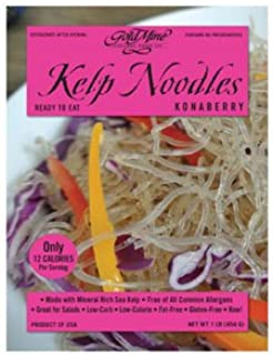 Gold Mine Gluten-Free Konaberry Kelp Noodles - Raw, Low-Carb, Low-Calorie and Fat-Free - 16 Ounce
