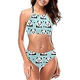 EU Set Bikini da Donna per Ragazze Costumi da Bagno da Spiaggia con Spalline Regolabili XL