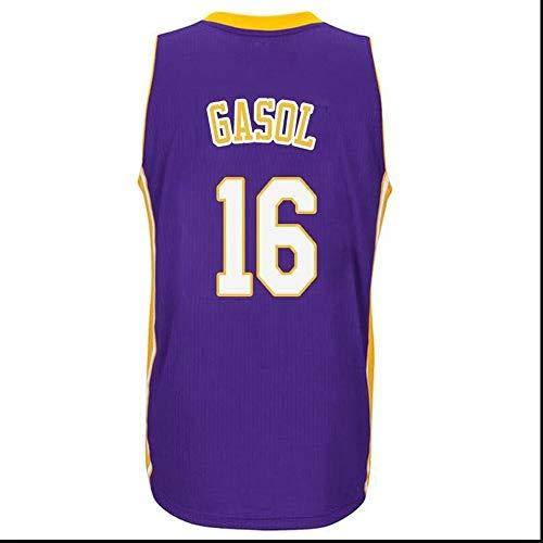 Camiseta de Baloncesto NBA para Hombre, Retro Jersey Swingman Basketball Camisetas, PAU Gasol # 16, Chaleco de Gimnasia Top Deportivo Ropa, S-XXL, Z094MK (Color : C, Size : L)