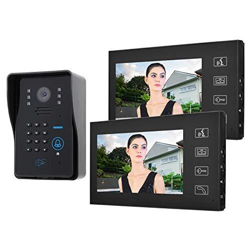 Verschleißfeste Touch-Technologie 7in 1V2 Video-Türsprechanlage für zu(British regulations (110V-240V))